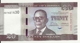 LIBERIA 20 DOLLARS 2017 UNC P 33 B - Liberia
