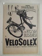 """Cyclomoteur   """"VELO SOLEX Courbevoie """" - Coupure De Presse De 1957 - Moto"""