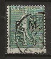 FRANCE:, Obl., FRANCHISE N° YT 3, B/TB - Franchise Stamps