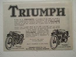 """Motocyclette   """" MOTO TRIUMPH 4.94 HP N & W De Luxe  """" - Coupure De Presse De 1928 - Motos"""