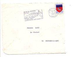 FLAMME 24 HEURES DU MANS 1967 - Marcophilie (Lettres)