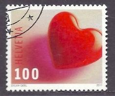 Switzerland / Svizzera / Schweiz 2011 - Timbre Voeux, Coeur, Wish Stamps, Heart, Used - Gebraucht