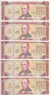 LIBERIA 5 DOLLARS 2011 AUNC P 26 ( 5 Billets ) - Liberia