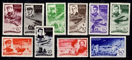 Russie Poste Aérienne YT N° 49/58 Neufs *. Très Bonne Série. A Saisir! - 1923-1991 URSS