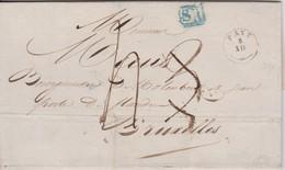 Lettre FAYT Bureau De Distribution Cachet Type 18 - 5/12/1840 Vers BRUXELLES + Cachet (SR) Bleu De BXL- SUPER Et R - 1830-1849 (Belgio Indipendente)