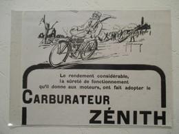 Motocyclette Militaire  à Carburateur Zénith  - Coupure De Presse De 1917 - Motos