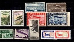 Russie Belle Petite Collection De Poste Aérienne Neufs **/* 1927/1955. Bonnes Valeurs. B/TB. A Saisir! - Collections