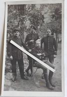 1916 Officiers Français Prisonniers De Guerre 23 Eme BCA 119 Eme 156 Eme RI  Poilu Tranchée Ww1 1914 1918 Cart Photo - War, Military