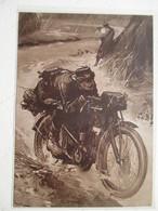 """Motocyclette   """" MOTO Eclaireur  Armée Française   """" - Coupure De Presse De 1917 - Motos"""