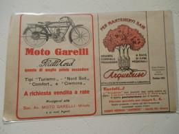 "Motocyclette Italienne   ""  MOTO GARELLI Milano  "" - Coupure De Presse De 1917 - Motos"