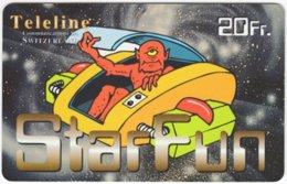 SWITZERLAND D-466 Prepaid Teleline - Cartoon, Comics - Used - Suisse