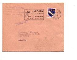 FLAMME 24 HEURES DU MANS 1963 - Marcophilie (Lettres)