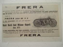 """Motocyclette Italienne   """"  MOTO FRERA 350 Ss V2   """" - Coupure De Presse De 1926 - Motos"""