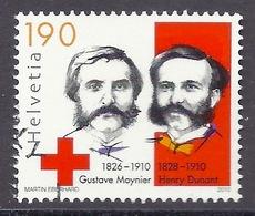 Switzerland / Svizzera / Schweiz 2010 - Anniversary Of The Red Cross, Gustave Moynier And Henry Dunant Founders, Used - Gebraucht