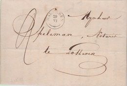 Lettre MALDEREN Supprimé - Bureau De Distribution Cachet Type 18 - 20/6/1839 Vers LOKEREN   - SUPER Et RRRRRR - 1830-1849 (Independent Belgium)