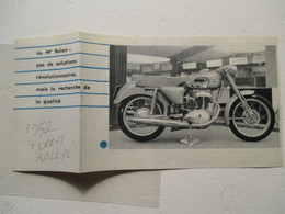 """Moto  """"  TERROT RALLYE Dijon  """" - Coupure De Presse De 1957 - Motos"""