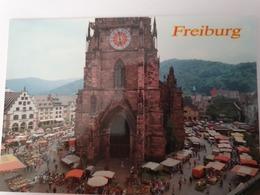 2 CARTES FREIBURG IM BREISGAU DIE FISCHERAU WESTTURMS - Freiburg I. Br.
