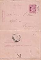 DDW752 - Entier Carte-Lettre Type TP 46 AGIMONT 1887 Vers NAMUR - Cartas-Letras