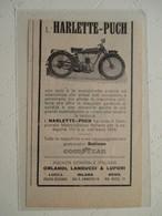 """Motocyclette  """"  HARLETTE PUCH    """" - Coupure De Presse De 1926 - Motos"""