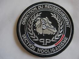 ECUSSON POLICE NATIONALE DIRECTION DU RENSEIGNEMENT SECTION HOOLIGANISME ETAT EXCELLENT SUR VELCROS - Police & Gendarmerie