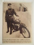 """Motocyclette  """"  MOTO Motard  De L'armée Allemande """" - Coupure De Presse De 1915 - Motos"""
