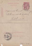 DDW755 - Entier Carte-Lettre Type TP 46 COUILLET 1889 Vers LODELINSART - Cartas-Letras