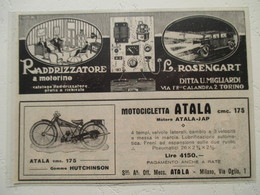 """Motocyclette Italienne  """"  ATALA JAP Miano   175 Cm³ """" - Coupure De Presse De 1932 - Motos"""