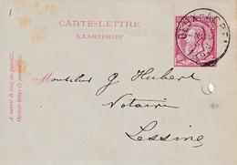 DDW756 - Entier Carte-Lettre Type TP 46 DEUX ACREN 1891 Vers LESSINES - Cartas-Letras