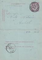 DDW757 - Entier Carte-Lettre Type TP 46 DOLHAIN LIMBOURG 1887 Vers Le Notaire Nols à AUBEL - Cartas-Letras