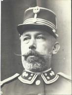 Photo De Mr Capron Colonel Garde Civique Saint-Gilles Belgique 1913 (24X18 Cm) + Convocation. - Personnes Identifiées
