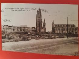 CPSM. 119. DUNKERQUE (Nord) - (après Guerre 1939-45) Rue Alexandre III - E.C. - Dunkerque