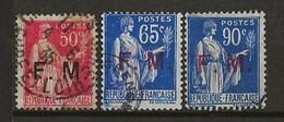 FRANCE:, Obl., FRANCHISE N° YT 7, 8 Et 9, TB - Franchise Stamps