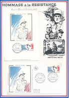 FRANCE- ENVELOPPE + CARTE OBL MARECHAL DE LATTRE 18.11.89 MOUILLERON EN PAREDS - Guerre Mondiale (Seconde)