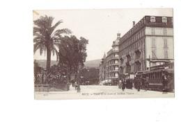 Cpa - 06 - NICE - PLACE DE LA GARE AVENUE THIERS - 1047 ND - Hotel Terminus Tramway - Transport Ferroviaire - Gare