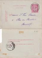 DDW759 - Entier Carte-Lettre (complète Avec Bords) Type TP 46 FORCHIES LA MARCHE 1893 Vers HASSELT - Cartas-Letras