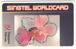 SINGAPORE B-684 Prepaid SingTel - Plant, Flower - Used - Singapour
