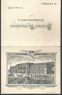 Menu 4 Volets 1893 Banhof Restauration Strassburg (Strasbourg) Illustré.(12,5 X 10 Plié) - Menus