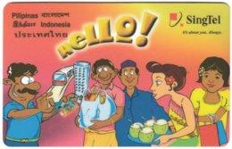 SINGAPORE B-701 Prepaid SingTel - Cartoon - Used - Singapour