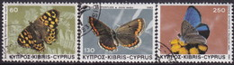 Cyprus 1983 SG #604-06 Compl.set Used Butterflies - Cyprus (Republic)