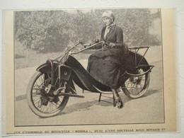 """Motocyclette Allemande MEGOLA Fabiquée à  2000 Ex """" MOTO à Moteur Rotatif à Cinq Cylindres """" - Coupure De Presse De 1922 - Motos"""