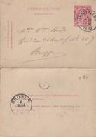 DDW761 - Entier Carte-Lettre Type TP 46  GHISTELLES 1890 Vers BRUGGE - Cartas-Letras