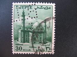 Perforé Perfin Lochung , Egypte   See, à Voir         BIE - Égypte