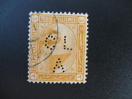 Perforé Perfin Lochung , Egypte   See, à Voir         CLA - Égypte