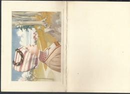Menu 4 Volets 1900 Daté De Mariemont , Très Belle Illustration - Menus