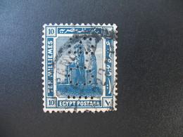 Perforé Perfin Lochung , Egypte   See, à Voir         IOB - Égypte