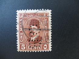 Perforé Perfin Lochung , Egypte   See, à Voir         OB - Égypte