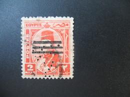 Perforé Perfin Lochung , Egypte   See, à Voir         R&C° - Égypte