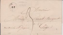Lettre VERTRIJK- Bureau De Distribution Cachet Type 18 - 26/12/1843 Vers LIEGE  - SUPER Et RRRRR - 1830-1849 (Belgique Indépendante)