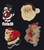 63664-lot De 4 Pin's.Noel.Fetes. - Navidad