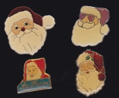 63666-lot De 4 Pin's.Noel.Fetes. - Navidad